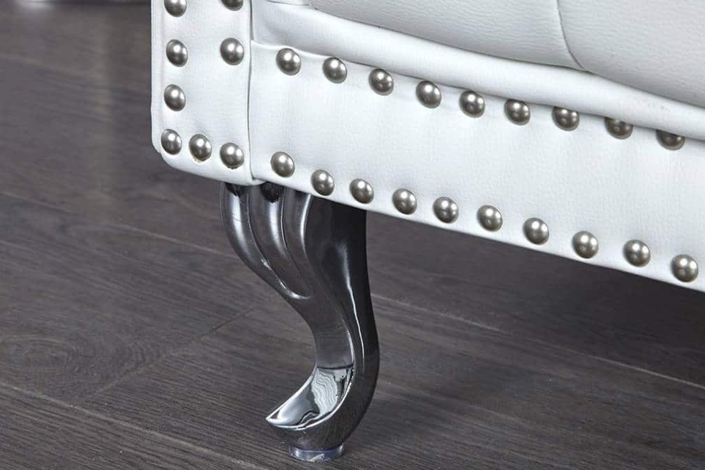Location fauteuil capitonn blanc royal 4 reception maelys - Fauteuil capitonne blanc ...